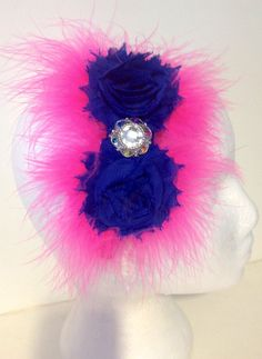 Back to School Fancy Girl Boutique Hot Pink & Royal Blue Handmade Headband.  by FancyGirlBoutiqueNYC, $14.99