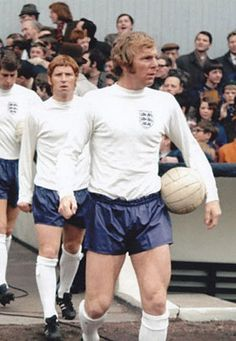 England captain Bobby Moore leads the team out to face Scotland at Hampden Park in England Football Players, England Players, Best Football Team, World Football, Football Shirts, Long White Socks, Jimmy Greaves, England National Team, Bobby Moore