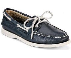 Authentic Original 2-Eye Boat Shoe, Navy Deerskin