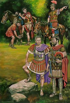 Roman officers, 1st C. AD