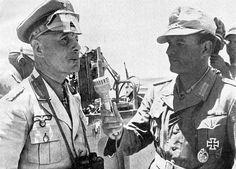 Erwin Rommel being interviewed during the african war