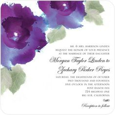 Watercolor Roses - Signature White Textured Wedding Invitations - Coloring Cricket - Winterberry - Red : Front