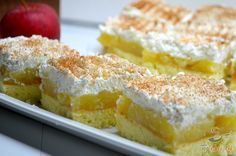 Luxury on a saucer - Apple slices with cream cheese NejRecept. Graham Crackers, Bon Appetit, Vanilla Cake, Nutella, A Table, Sweet Recipes, Sweet Tooth, Cheesecake, Deserts