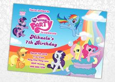 My Little Pony Invitation by FuntasticParties on Etsy, $5.50