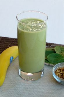Best Greens And Grains Chiquita Banana Smoothie  Ingredients: 1  cup Chiquita Pineapple chunks* 1   Chiquita Banana, peeled and cut in chunks* 1   cup Fresh Express Spinach 1/2   cup Low-fat, high-fiber granola 6   oz. Soft or silken tofu 3/4   cup Chilled water, or more as needed Instructions for best Greens and Grains Chiquita Banana Smoothie Recipe Place all ingredients in a blender and blend until smooth. Serve over ice if desired.