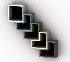 Cubo Biblioteca Decorativa Modular Moderna Minimalista - Bs. 49.990,00 en Mercado Libre