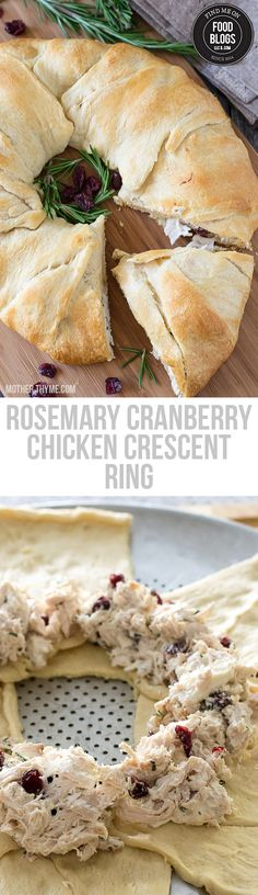 Rosemary Cranberry Chicken Crescent Ring @foodblogs.com #FindMeOnFoodBlogs #Food #Sharing
