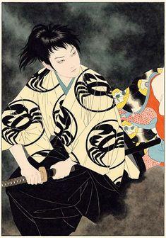 Samurai Art by Takato Yamamoto Japanese Drawing, Japanese Art Modern, Traditional Japanese Art, Japanese Artwork, Japanese Painting, Japanese Prints, Chinese Painting, Chinese Art, Oriental