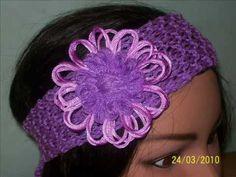 Bandas para el cabello tejidas a crochet y dos agujas  PRIMAVERA. VERANO