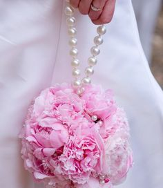 Peony pomanders are a special touch for flower girls.