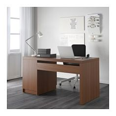 IKEA   MALM, Desk, Black Brown, , You Can Collect Cables And