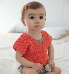 Cardigan bébé au point d'astrakan