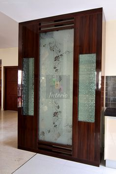 The client had a Puja or prayer room that was more like a glass cubicle and wanted a more traditional unit. The below Puja room was created...