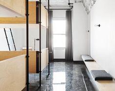 Industrial Minimalist for The Hollander Hotel [Chicago] Chicago Hotels, Bedroom Design Inspiration, Higher Design, Industrial Chic, Hostel, Interiores Design, Architecture Details, Best Hotels, Shabby Chic