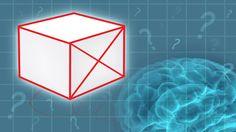 """Desafiamos você a desenhar um cubo com um """"X"""" no meio, tudo isso sem tirar a caneta do papel!"""