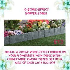 10 Stone Effect Border Edges