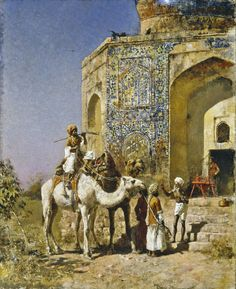 INDIA......PAINTING BY EDWIN LORD WEEKS.......SOURCE 19THCENTURYUSAPAINT.BLOGSPOT.FR..