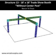 18 X 18 Trade Show Booth Kits. Our 18 X 18 Exhibit kit comes with all of the truss components and hardware to erect a complete 18 X 18 Display Booth. Our lightweight aluminum truss 18 X 18 booth kit is economical to purchase, designed for longevity and is completely modular in design allowing you to increase the size of your 18 X 18 Exhibit Kit at any time.