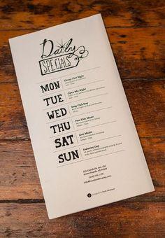 diseños de menús de restaurante creativos