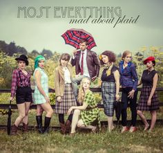 Mad About Plaid Concept shoot for Most Everything Vintage, Vancouver WA MUAH: Ashley Rauch/Ashley Cheri Stylist Photography: Chelsea Smith of Urban Bay Location: Fort Vancouver, WA