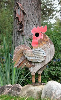 Birdhouse - posting for STACIE!!  could be cool indoors! ;) you're crafty: you could definitely recreate it!