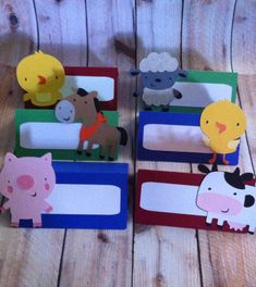 12 Farm Animal Food tent label Place cards by LittleMissStarchick, $12.00