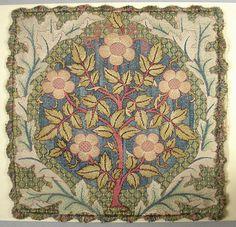William Morris, cotton cushion cover, 19th C