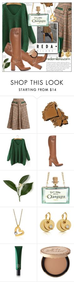 """Reda Milano Fashionable Woman's Boots"" by ania-95 ❤ liked on Polyvore featuring N°21, Bobbi Brown Cosmetics, WithChic, Roberto Coin, Wasson, Hermès and Too Faced Cosmetics"