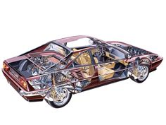 1985-1989 Ferrari 3.2 Mondial designed by Pininfarina - Illustration uncredited