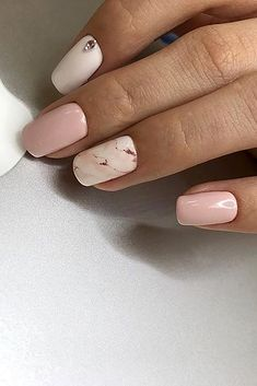 Perfect Pink And White Nails For Brides ❤ See more: http://www.weddingforward.com/pink-and-white-nails/ #weddingforward #bride #bridal #wedding
