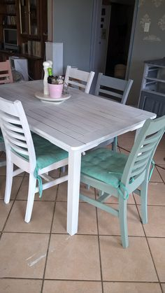 The chairs and old Patio table painted with Granny B Chalk paint