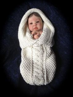 knitted baby cocoon pattern – Knitting Tips Crochet Baby Cocoon Pattern, Crochet Baby Beanie, Baby Knitting Patterns, Baby Patterns, Free Knitting, Wool Baby Blanket, Baby Blankets, Knitted Baby Clothes, Knitted Baby Hats