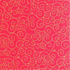 Faltpapier für Sterne, Arabesken rot