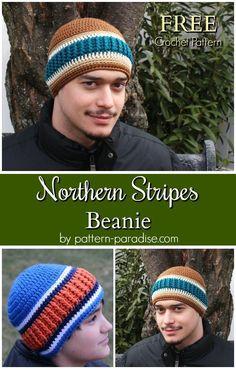 Free Crochet Pattern - Northern Stripes Beanie | Pattern Paradise