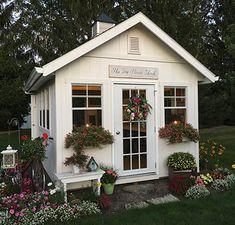 Shed Office, Backyard Office, Backyard House, Backyard Sheds, Outdoor Sheds, Outdoor Rooms, Backyard Cottage, Backyard Studio, Backyard Retreat