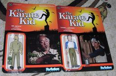 FUNKO REACTION THE KARATE KID ACTION FIGURE LOT DANIEL LARUSSO MR. MIYAGI   #FUNKO