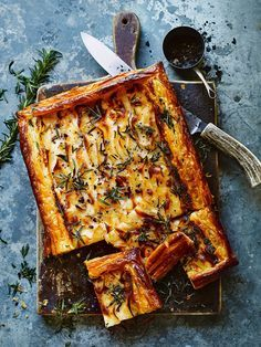 A clever spin on a classic dish, this potato tart is the perfect way to add a spark to a christmas table.