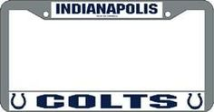 Indianapolis Colts Chrome License Plate Frame