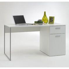 Marvin White Computer Desk