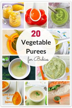 Purees are among the first foods given to babies. Use this chance to introduce your baby to a variety of veggies with these vegetable purees for babies. via @MyLittleMoppet