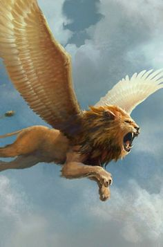 Cute Fantasy Creatures, Mythical Creatures Art, Mythological Creatures, Magical Creatures, Lion Images, Lion Pictures, Lion With Wings, Mystical Animals, Lion Wallpaper