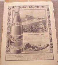 1913 Magazine Ad === SNIDER'S TOMATO CATSUP - (#A1411)