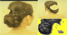 ★HOW TO WEDDING CHIGNON, Low BRAIDED Sock BUN UPDO for Long Hair TUTORIAL | QUICK EASY HAIRSTYLES