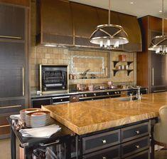 Skyline Penthouse - Kitchen_Main - Suzanne Lovell Inc. Favorite Kitchen, Relaxation Room, Interior, Kitchen Remodel, Custom Coffee Table, Little Kitchen, Dining Room Credenza, Kitchen Company, Kitchen Design
