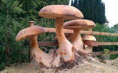 mushroom tree carving - Google Search
