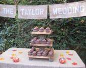 Rustic Wedding Cake Stand Cupcake Dessert Server Log Slice Natural Wedding 4 Tier XLarge. $159.95, via Etsy.