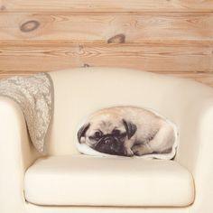 Pug Pillow Linen Cushion Cute Pet Lover Gift Pug Home by Casacova Gifts For Pet Lovers, Dog Lovers, Pug Pillow, Pug Art, Nature Decor, Dog Friends, Linen Fabric, Stuffed Animals, Pugs