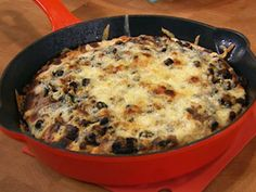Quesadilla Casserole  Rachael Ray  I think I might try Chicken in this