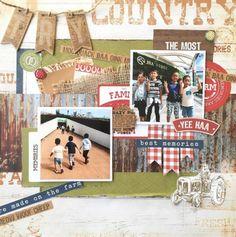 Kaisercraft Old Mac Scrapbooking Layouts, Scrapbook Pages, Farm Layout, Multi Photo, Farm Gardens, Best Memories, Screen Shot, Farm Animals, Kylie