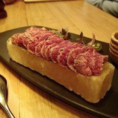 The Sher F1 #Wagyu tenderloin #tataki #yum!  served with japanese pickles radish ponzu & wasabi. --- #food #foodporn #foodies #foodgasm #nomnom #melbournefood #delicious #melbourne #australia #melbourneyum #melbourneeats #melbournefoodie by beatriceee